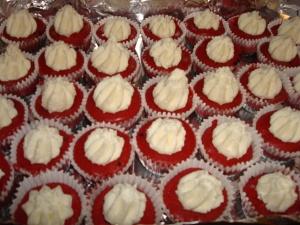Mini Red Velvet Cheesecakes!