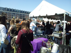 The token beer man at the wine festival!
