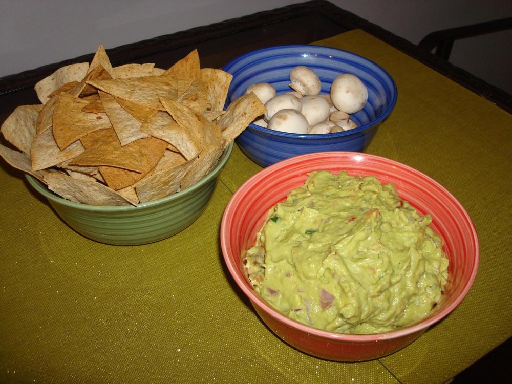 Homemade Guac & Tortilla Chips!