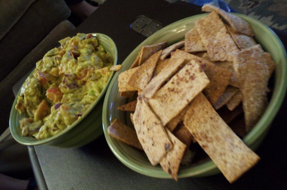 Guacamole Salsa & Baked Tortilla Chips!