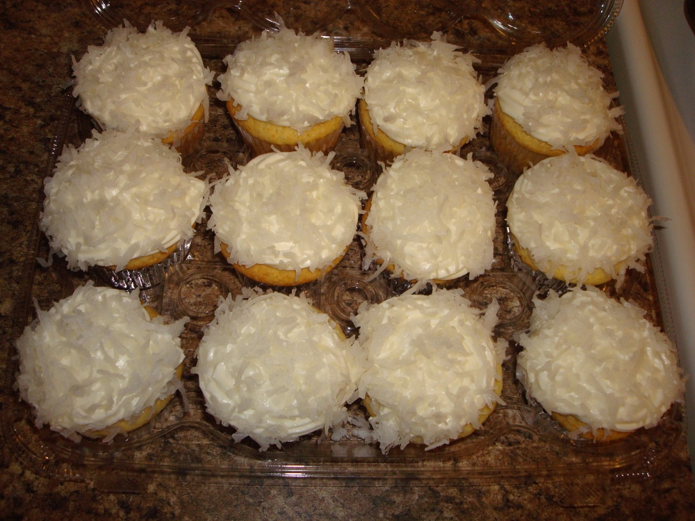 Lemon Cupcakes with Lemon Coconut Frosting!