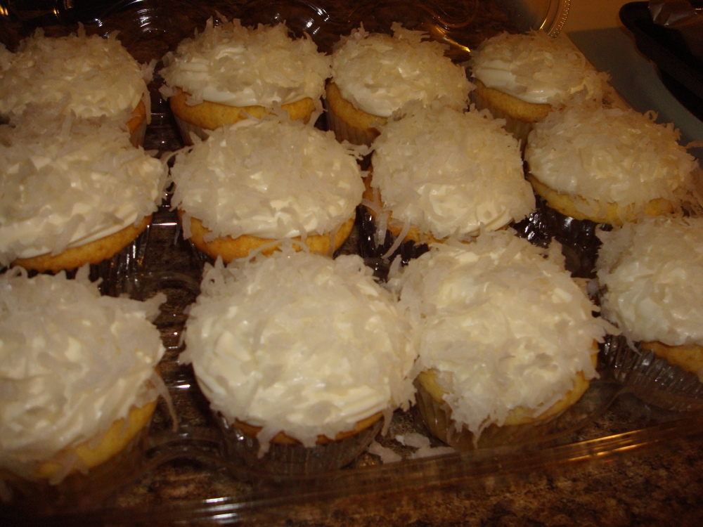 Lemon Cupcakes with Lemon Coconut Frosting!