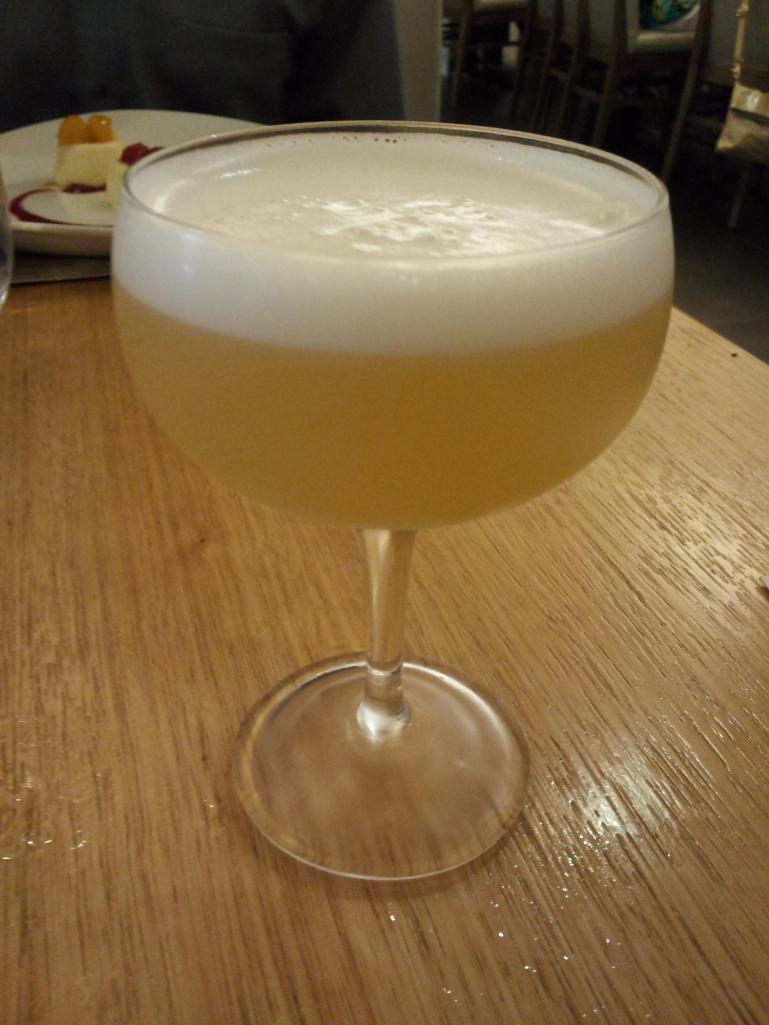 los rudos: mezcal lillet grapefruit aji egg white