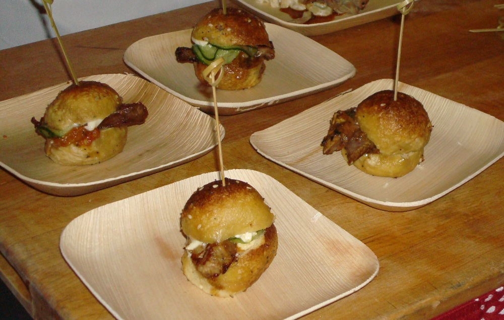 Rare Vos Pretzel with Lamb Bacon-Heirloom & Hennepin Tomato Jam