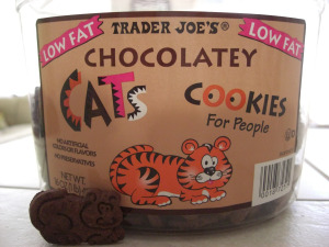 cat cookies chocolate