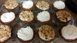 dozen completed cupcakes