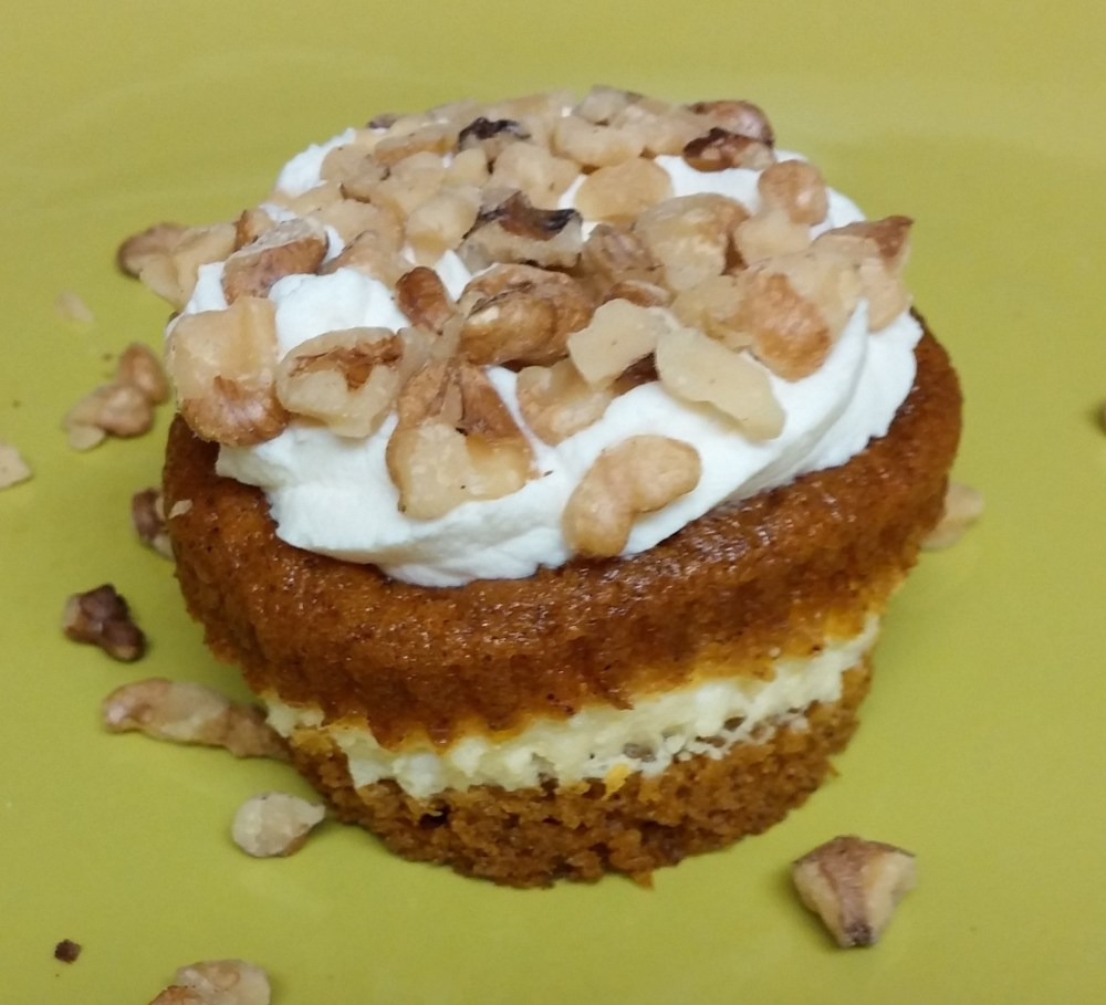 finished cupcake with nuts