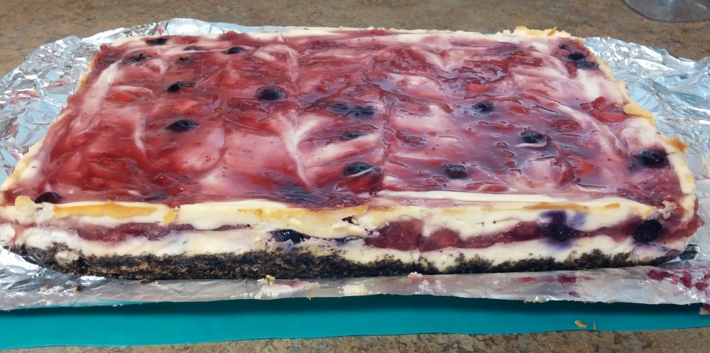 cheesecake bars finished layers sideview