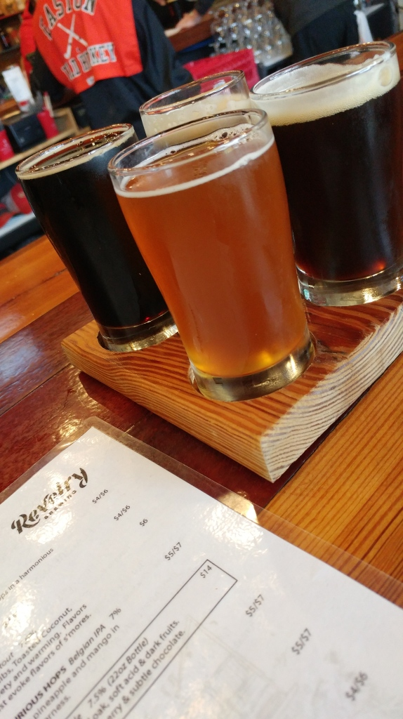 Beer flight at Revelry