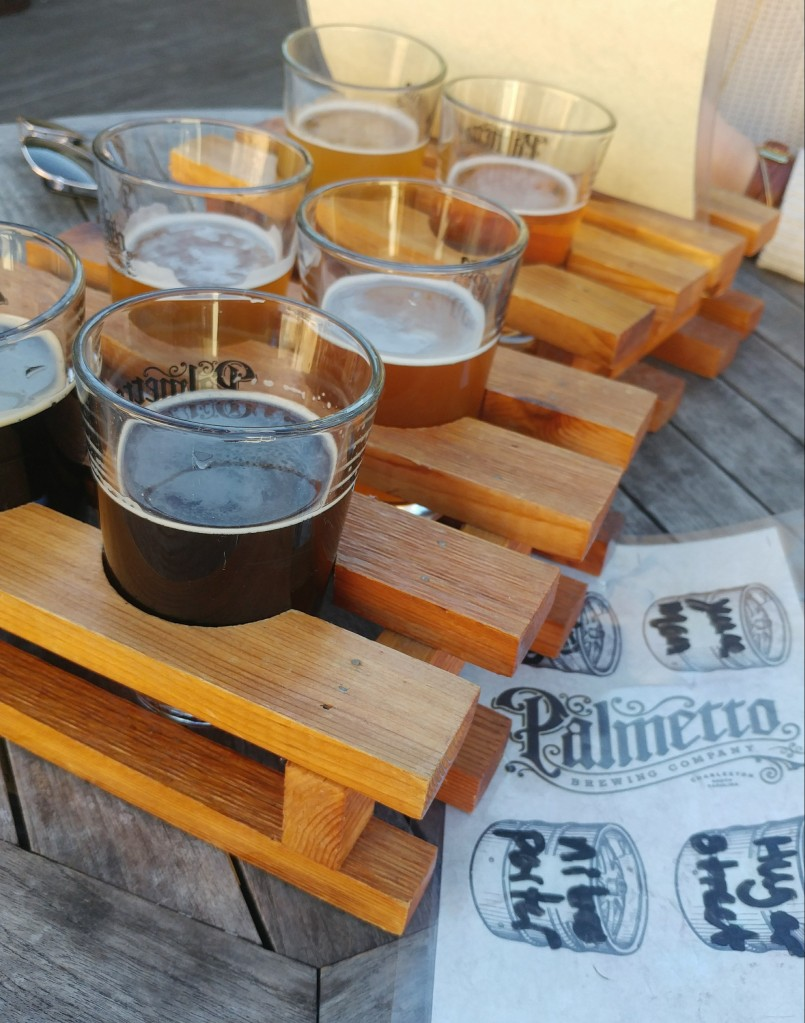 Beer flights at Palmetto